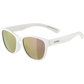 Alpina Flexxy Cool Kids II Glasses Kids, white/pink mirror
